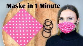 Maske für Mund & Nase in 1 Minute 🤗