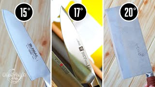 Best sharpening angle for kitchen knives