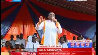 Raila atua kwao Siaya : Raila afanya mkutano Siaya