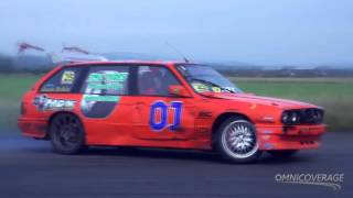The highly talented NI Drift Series Driver Janis Drikis in his mighty V8 BMW