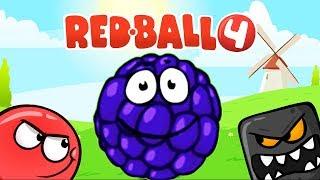 RED BALL 4 КРАСНЫЙ ШАРИК Часть 4 БИТВА ЗА ЛУНУ  прохождение ВИДЕО ДЛЯ ДЕТЕЙ  как мультик kids games