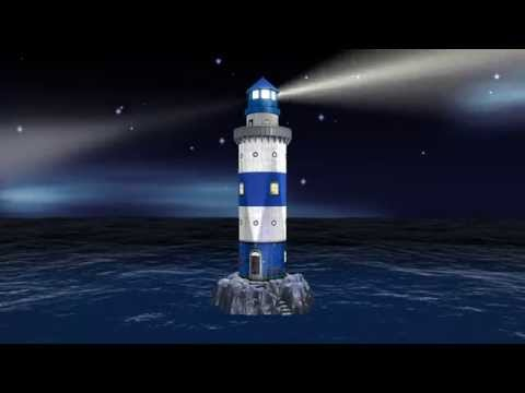 Lighthouse 3D Puzzle at Night