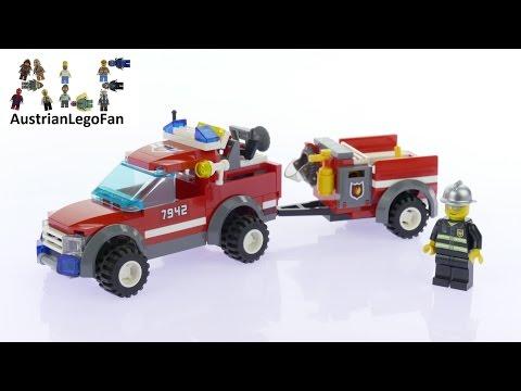 Vidéo LEGO City 7942 : Le 4x4 des pompiers et sa remorque