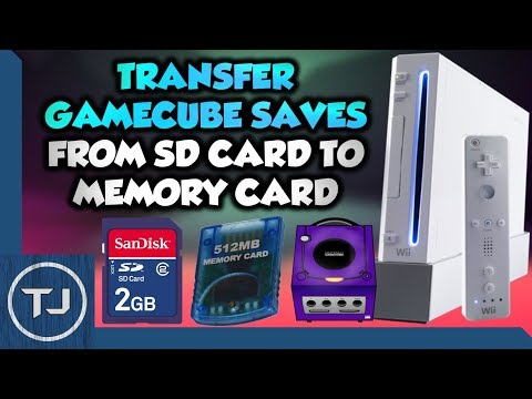 Wii Transfer Custom GameCube Saves From SD To Memory Card!