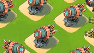 Boom Beach HQ 21 FULLY MAXED SPEED BUILD DESIGN!! (Maxed Defense Speed Build!)