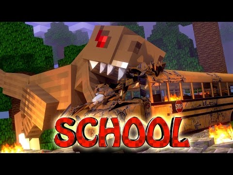 Minecraft School | Military School of Mods - T-REX EATS STUDENTS (Dinosaurs)