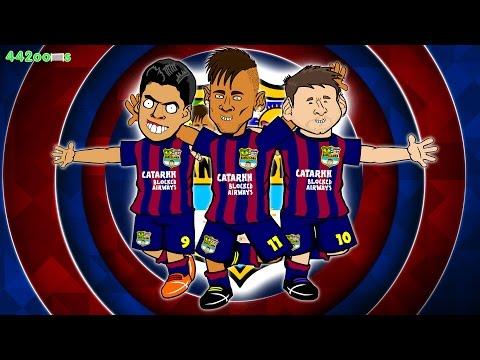 🎶MSN SONG🎶 Bayern Munich vs Barcelona 3-2 PARODY (Champions League Semi-Final 2015 Goals Neymar)