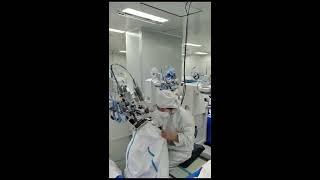 Линия по производству медицинских костюмов video