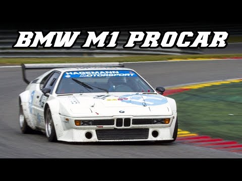 BMW E26 M1 procar - racing in 2017 (flames and downshifts)