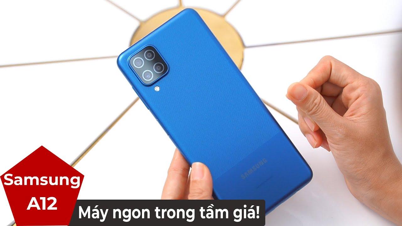 Mở hộp Samsung Galaxy A12 đánh giá nhanh - Lựa chọn giá rẻ dưới 4 triệu mà ngon?