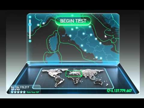 Fastest Internet speed on Planet - 1 gigabit speed test in