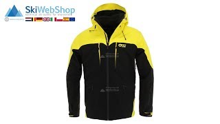 Picture, Naikoon, ski jacket, men, black