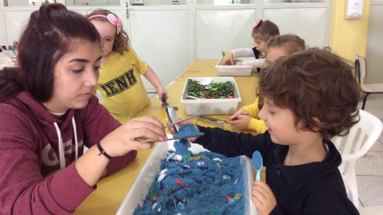 Oficina sensorial com alunos da Educação Infantil