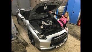 Наш Nissan GT-R круче Гордея и Гурама! Только пока не едет. Лиса Рулит. Елена Лисовская