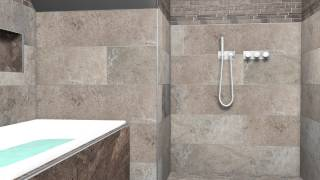 preview picture of video '3D service van badkamer met keramische tegels'