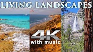4K LIVING LANDSCAPES (+Binaural Music)