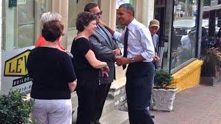 Obama Walks the Streets of America