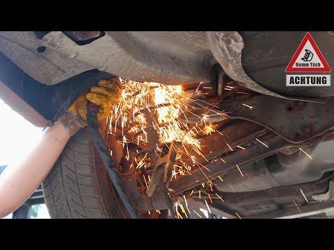 Federn durchschneiden - Auto tieferlegen schnell gemacht | Dumm Tüch Opelix