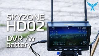 Skyzone HD02 5.8Ghz 7inch Diversity Monitor with Battery and DVR