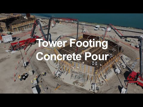 Tower Footing Concrete Pour