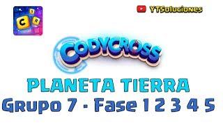 CodyCross Planeta Tierra Grupo 7 Fase 1 2 3 4 5