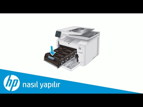 HP LaserJet veya LaserJet Pro yazıcınıza toner kartuşu yerleştirme