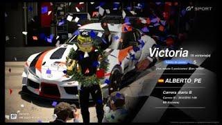 🚩Gran Turismo SPORT Online🚩 Road to Trophy, Record de victorias, 15 Victorias, C.B. Toyota GR Supra