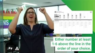 How To Vote Greens In Auslan