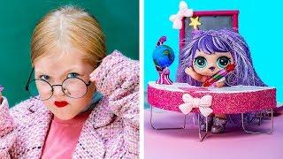 12 Kendin Yap Tarzı LOL Sürpriz Bebek Okul Malzemesi ve El İşi