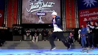 HipHop Final - Kyoka Maika vs Diao Shiuan | CrazyMike Juste Debout Taiwan 2014