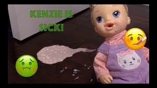 Kenzie is Sick!!