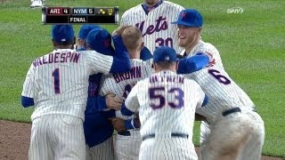 Mets walk-off on Brown's gapper in the 13th
