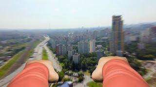 Полёт супермена над Москвой (неудачный дубль)