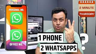 How to install 2 whatsapp in 1 iPhone or 1 Android 2minthursday