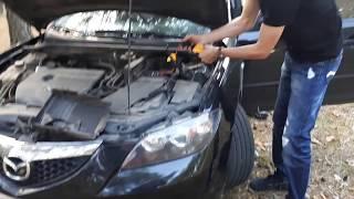 Hummer Power Bank Jump Starter заводим 52 раза Mazda 3 (2L)