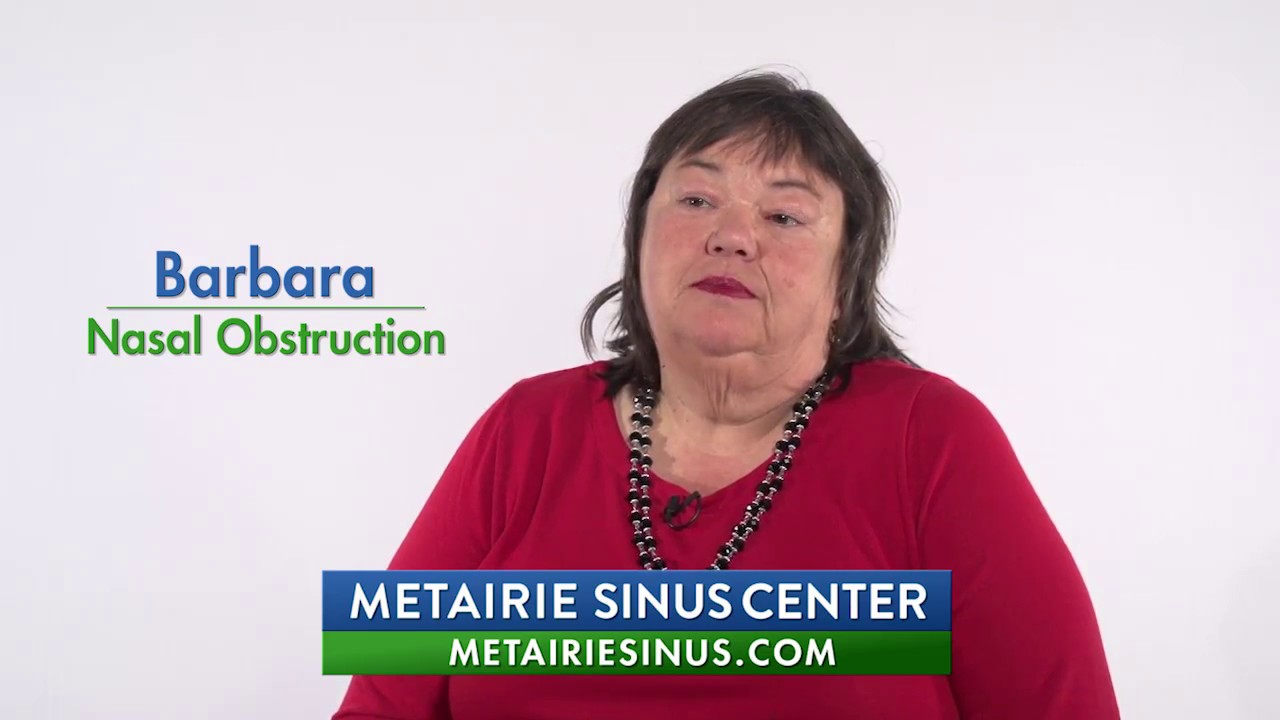 Barbara - Nasal Obstruction & Sinus Patient