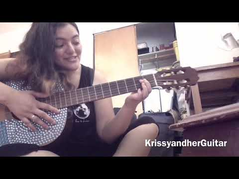 SUPER SIMPLE GUITAR CHORDS! LEARNING THE A CHORD-KrissyandherGuitar