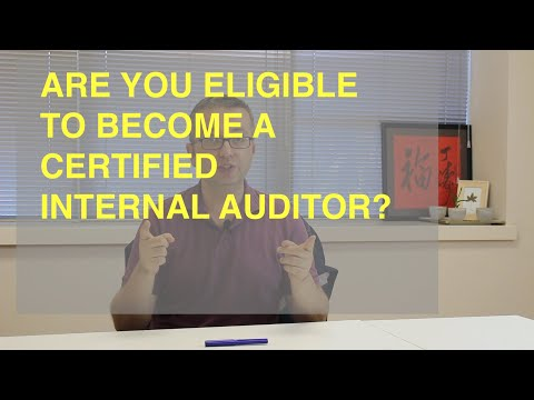 ARE YOU ELIGIBLE TO BECOME A CERTIFIED INTERNAL ...