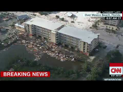 Catastrophic Damage From Hurricane Michael Aerial View