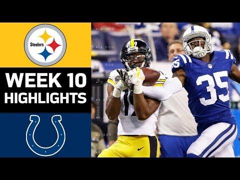 Steelers vs. Colts | NFL Week 10 Game Highlights