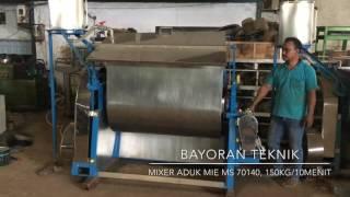 Mixer Aduk Mie Seri MS 70140, Bayoran Teknik. 150 kilogram per 10 menit!