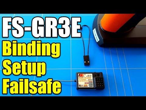 Best Way To Bind FlySky FS-GT3C Transmitter To FS-GR3E Receiver and Setup Failsafe