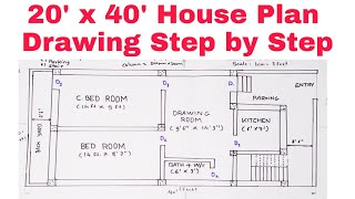 How To Draw House Plan Step By Step Method