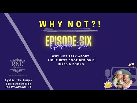 Why Not Wednesday? Ep 6: Birds & Books