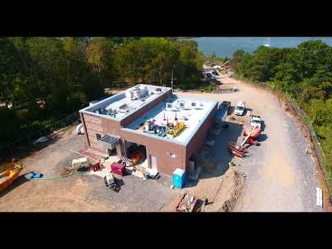 9 26 2017   Aerial Video Peirce Island Wastewater Treatment Facility