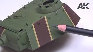 """Набор карандашей для эффектов """"Ржавчина и полосы"""". AK-INTERACTIVE AK10041 от компании Хоббинет. Сборные модели. - видео"""