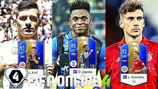 FIFA ONLINE 4:  TEST HÀNG 19TOTS CỰC CHẤT Vs Zapata 19TOTS - Jovic - Goretzka & M. Sissoko 19TOTS