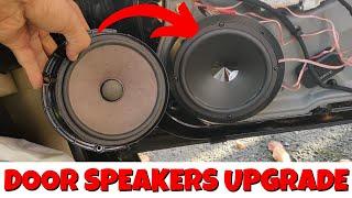 Car Front Door Speakers Upgrade to Mid bass kit system   VW Golf Mk4   Episode 9