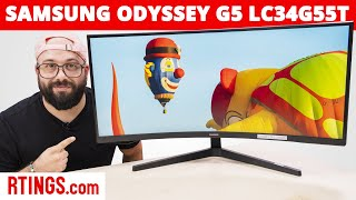 Video: Samsung Odyssey G5 LC34G55T Monitor Review (2021) - Another Ultrawide Gaming Option?
