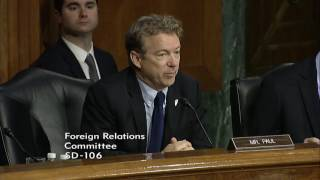 Sen. Rand Paul at Tillerson Sec. of State Nomination Hearing  - Jan. 11, 2017